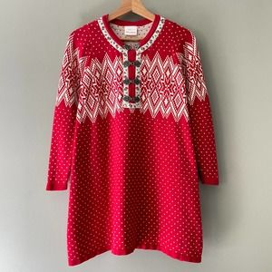 Hanna Andersson Sno Happy Sweater Dress Size 10